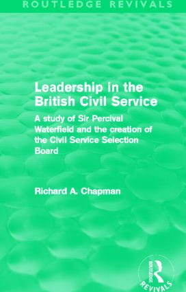 Alexander Percival Waterfield and the Principles of Civil Service Recruitment