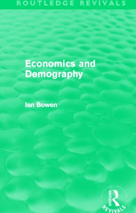 Economics and Demography (Routledge Revivals) (Paperback) book cover