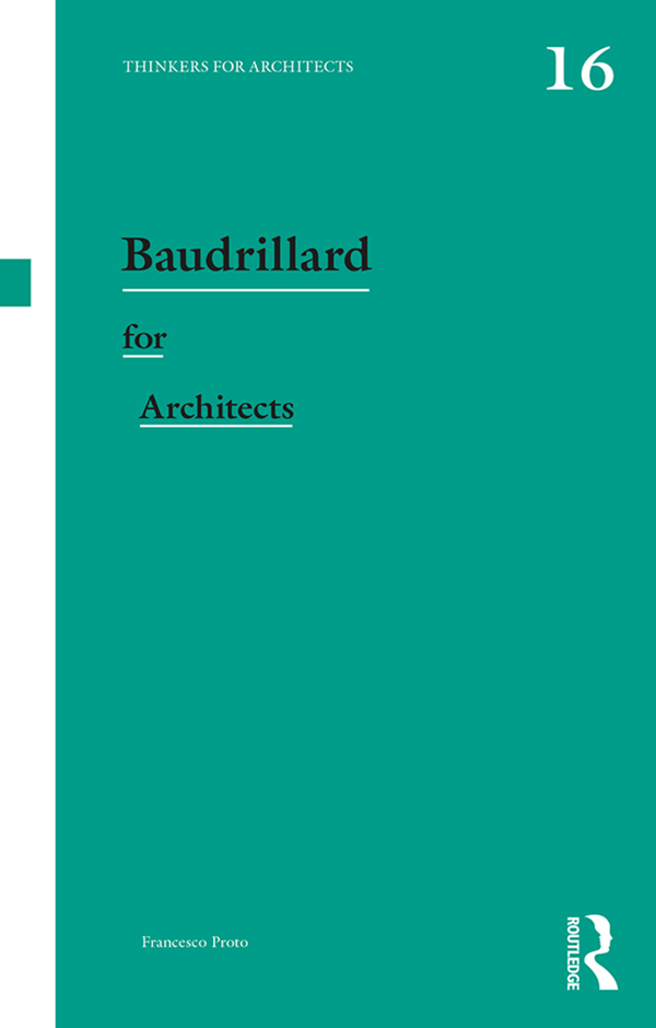 Baudrillard for Architects book cover