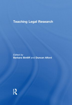 Teaching Legal Research (Paperback) book cover