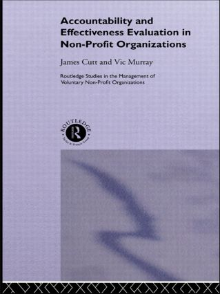 Accountability and Effectiveness Evaluation in Nonprofit Organizations (Paperback) book cover