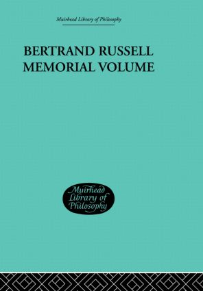 Bertrand Russell Memorial Volume (Paperback) book cover