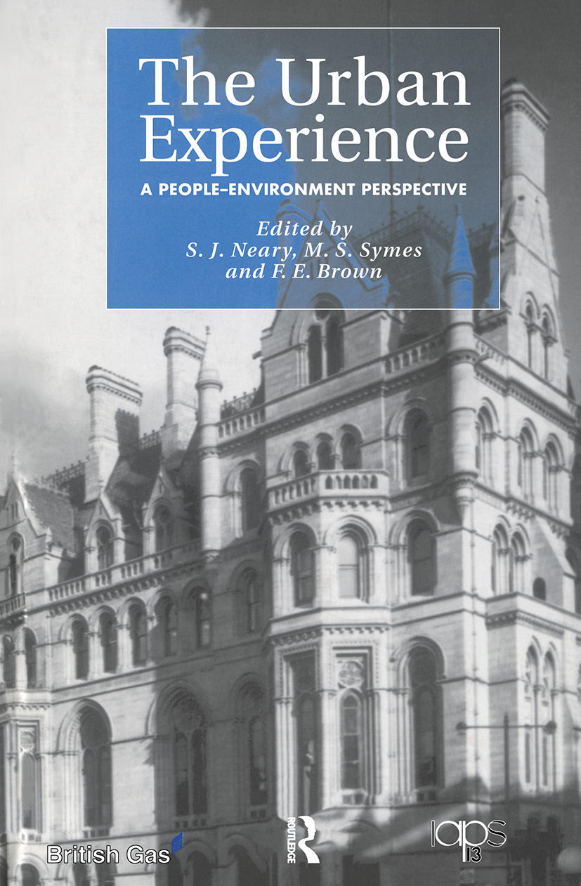 The Urban Experience: A People-Environment Perspective (Paperback) book cover