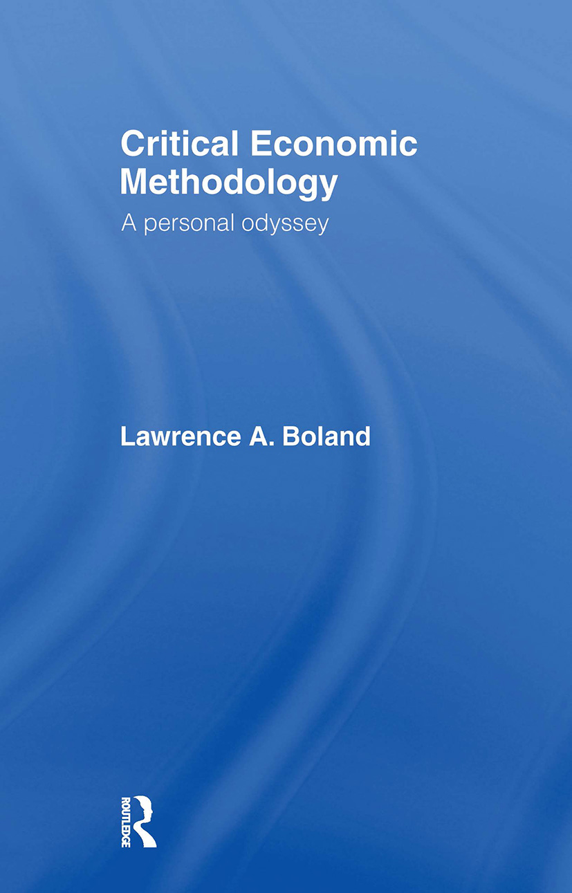 Critical Economic Methodology: A Personal Odyssey, 1st Edition (Paperback) book cover