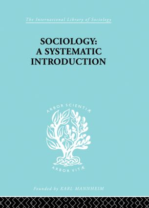 Sociology: A Systematic Introduction (Paperback) book cover
