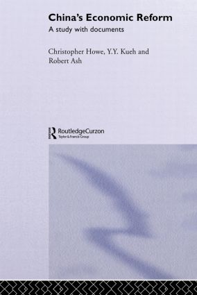 China's Economic Reform: A Study with Documents, 1st Edition (Paperback) book cover