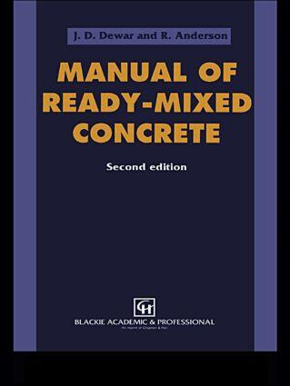 Manual of Ready-Mixed Concrete