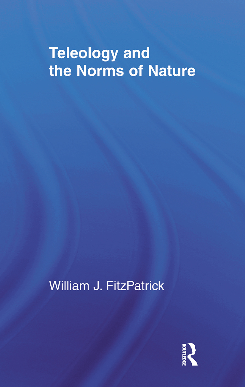 Teleology and the Norms of Nature (Paperback) book cover