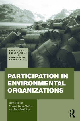 Participation in Environmental Organizations (Paperback) book cover
