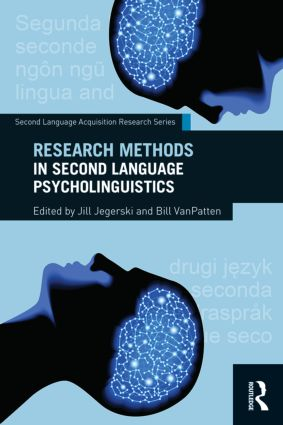 Research Methods in Second Language Psycholinguistics (Paperback) book cover
