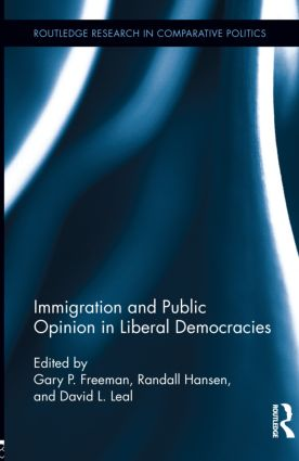 Immigration and Public Opinion in Liberal Democracies (Hardback) book cover