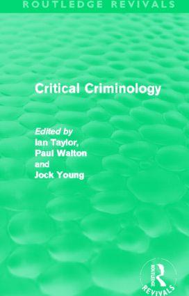 Critical Criminology (Routledge Revivals) (Hardback) book cover