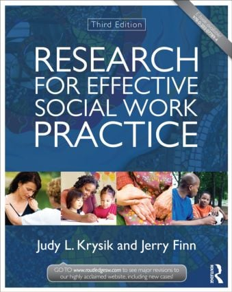 Research for Effective Social Work Practice: 3rd Edition (Paperback) book cover