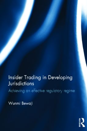 Insider Trading in Developing Jurisdictions: Achieving an effective regulatory regime (Hardback) book cover