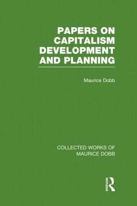 Papers on Capitalism, Development and Planning (Hardback) book cover