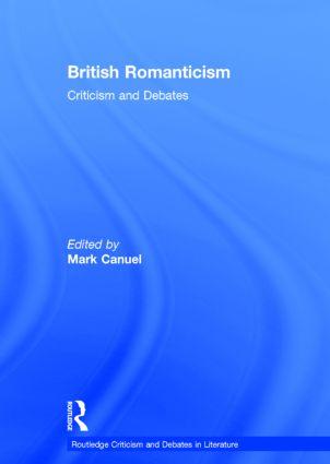 British Romanticism: Criticism and Debates book cover