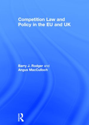 Competition Law and Policy in the EU and UK book cover