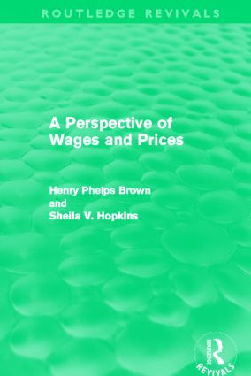 A Perspective of Wages and Prices (Routledge Revivals) (Hardback) book cover