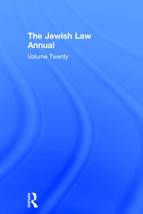 Jewish Law Annual Volume 20 book cover