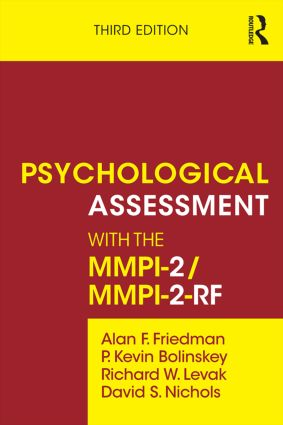 Psychological Assessment with the MMPI-2 / MMPI-2-RF: 3rd Edition (Paperback) book cover