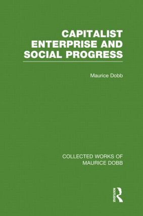 Capitalist Enterprise and Social Progress (Hardback) book cover