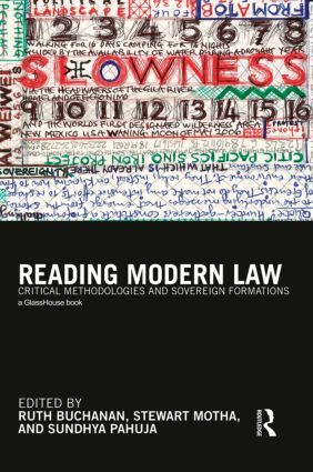 Reading Modern Law: Critical Methodologies and Sovereign Formations, 1st Edition (Paperback) book cover