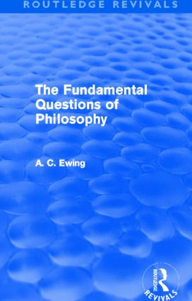 The Fundamental Questions of Philosophy (Routledge Revivals) (Hardback) book cover
