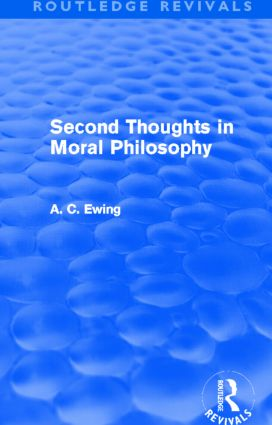 Second Thoughts in Moral Philosophy (Routledge Revivals) (Hardback) book cover