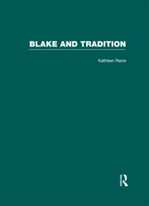 Blake and Tradition: 1st Edition (Hardback) book cover