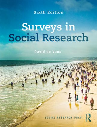 Surveys In Social Research: 6th Edition (Paperback) book cover