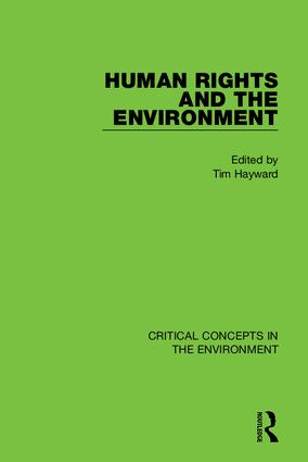 Human Rights and the Environment book cover