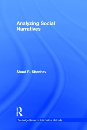 Analyzing Social Narratives book cover