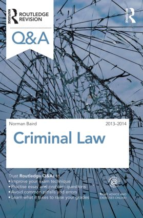 Q&A Criminal Law 2013-2014: 9th Edition (Paperback) book cover