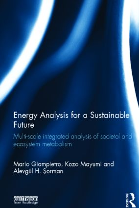 Energy Analysis for a Sustainable Future: Multi-Scale Integrated Analysis of Societal and Ecosystem Metabolism (Hardback) book cover