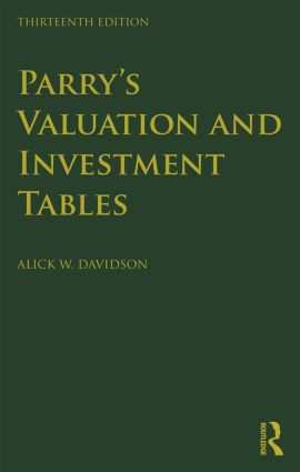 Parry's Valuation and Investment Tables: Centenary edition, 13th Edition (Hardback) book cover