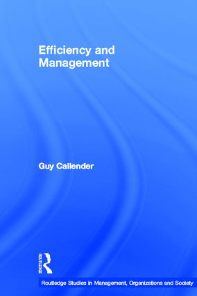 Efficiency and Management (Paperback) book cover