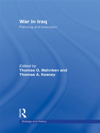 War in Iraq: Planning and Execution (Paperback) book cover