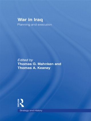 War in Iraq: Planning and Execution, 1st Edition (Paperback) book cover