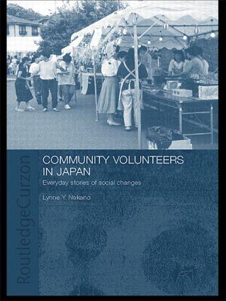 Community Volunteers in Japan: Everyday stories of social change book cover