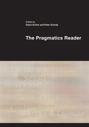 The Pragmatics Reader (Paperback) book cover