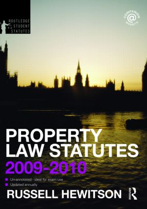 Property Law Statutes 2009-2010 book cover