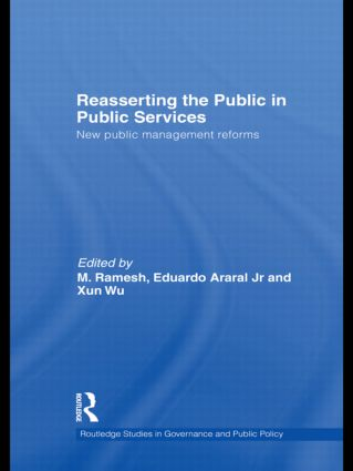 Reasserting the Public in Public Services: New Public Management Reforms (Hardback) book cover