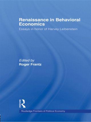 Renaissance in Behavioral Economics: Essays in Honour of Harvey Leibenstein, 1st Edition (Paperback) book cover