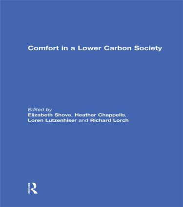 Comfort in a Lower Carbon Society (Hardback) book cover