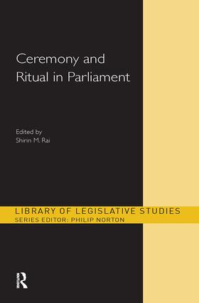 Ceremony and Ritual in Parliament (Hardback) book cover