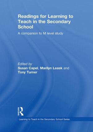 Readings for Learning to Teach in the Secondary School: A Companion to M Level Study, 1st Edition (Hardback) book cover