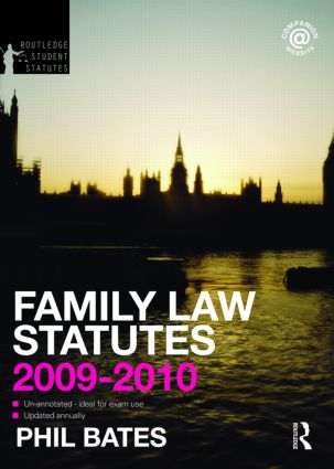 Family Law Statutes 2009-2010 book cover