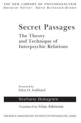 Secret Passages: The Theory and Technique of Interpsychic Relations book cover