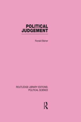 Political Judgement (Routledge Library Editions: Political Science Volume 20) (Hardback) book cover