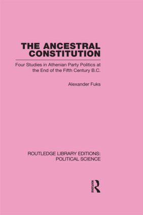 The Ancestral Constitution (Routledge Library Editions: Political Science Volume 25) (Hardback) book cover